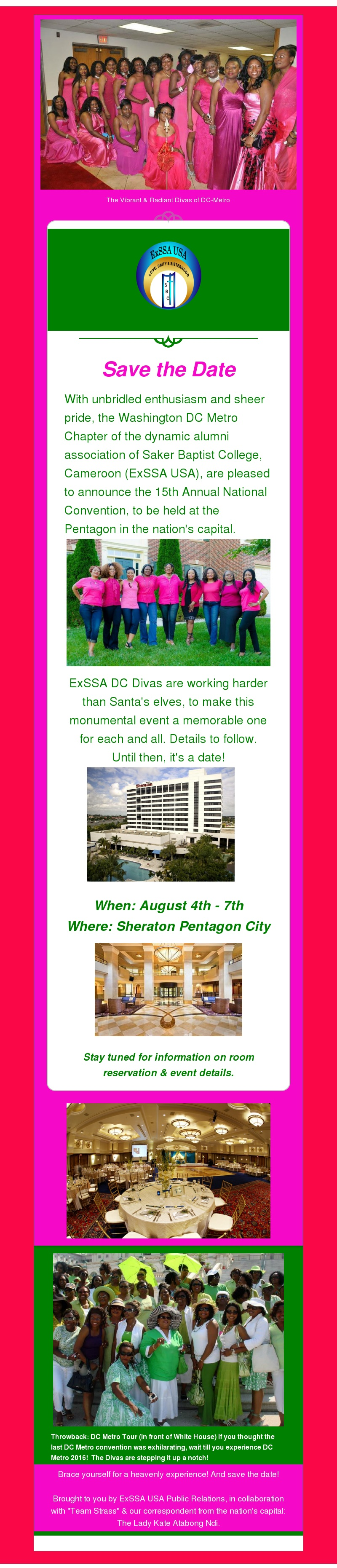 ExSSA DC Save the Date